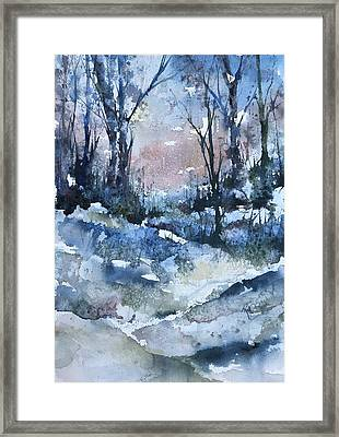 A Winter's Eve Framed Print by Robin Miller-Bookhout