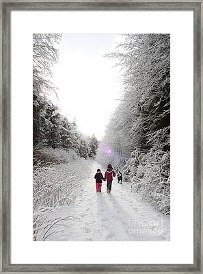 A Winter's Hike In Alaska Framed Print by Carolyn Brown