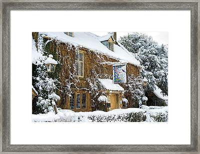 A Winters Pub Framed Print
