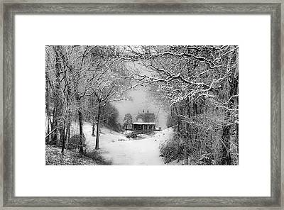 A Winter's Tale In Centerport New York Framed Print