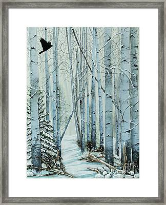 A Winter's Tale Framed Print by Stanza Widen