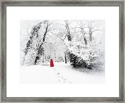 A Winter's Walk Framed Print by Jessica Jenney