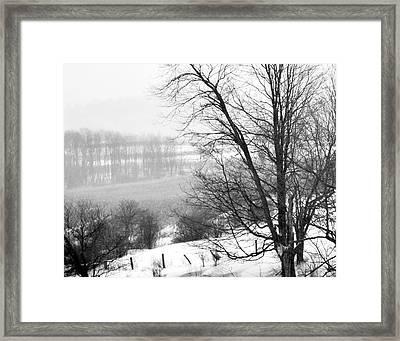 A Wintry Day Framed Print by Gerlinde Keating - Galleria GK Keating Associates Inc