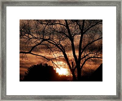 A Wisconsin Sunset Framed Print by William Presley