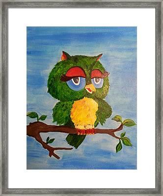 A Wise Bird Framed Print