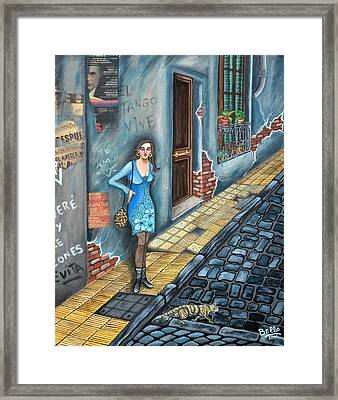 A Woman In Buenos Aires II Framed Print