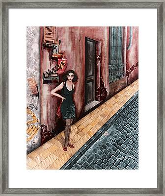 A Woman In Buenos Aires I Framed Print by Graciela Bello
