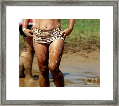 A Woman In Mud  Framed Print by Steven Digman