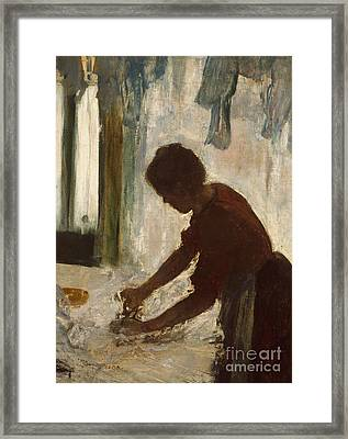 A Woman Ironing, 1873 Framed Print by Edgar Degas