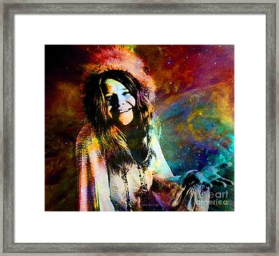 A Woman Of 1970 Rock And Roll Framed Print