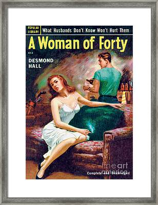 A Woman Of Forty Framed Print