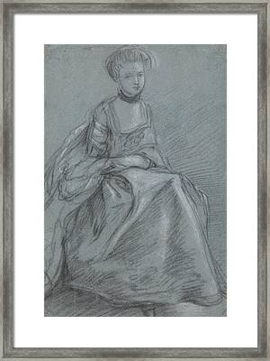 A Woman Seated  Framed Print by Thomas Gainsborough