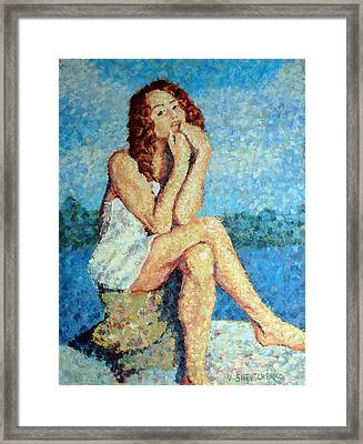 A Woman Who Thinks About You Framed Print by Vladislav Tchevtchenko