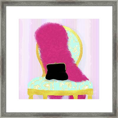 A Woman's Night Out In Gold II, Feminine Home Fashion Framed Print by Tina Lavoie