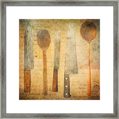 A Woman's Tools Framed Print by Lisa Noneman