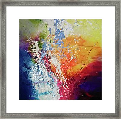 a wonderful journey through the present II Framed Print by Sir Josef - Social Critic -  Maha Art