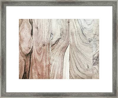 A Wood Surface Framed Print by Tom Gowanlock