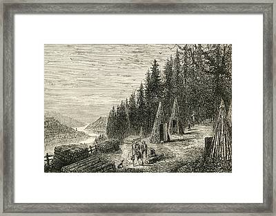 A Woodcutters Camp In The Ardennes Framed Print by Vintage Design Pics