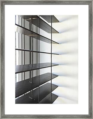 A Wooden Blind Framed Print by Tom Gowanlock