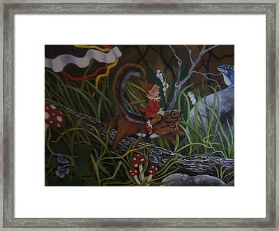 A Woodland Jaunt Framed Print by Joan Barnard