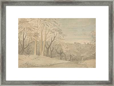 A Woody Landscape Framed Print by William Blake