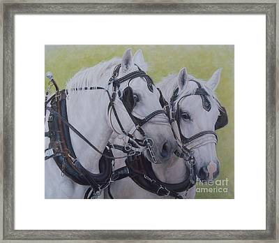 A Working Pair Framed Print by Pauline Sharp