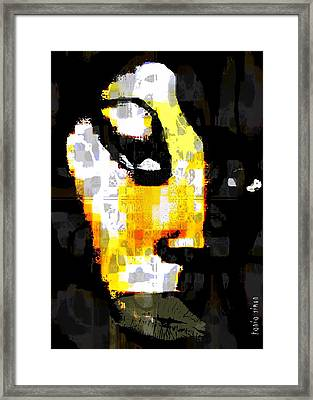 Framed Print featuring the painting A World Citizen by Fania Simon
