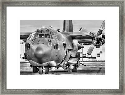 A World Of Hurt Black And White Framed Print by JC Findley