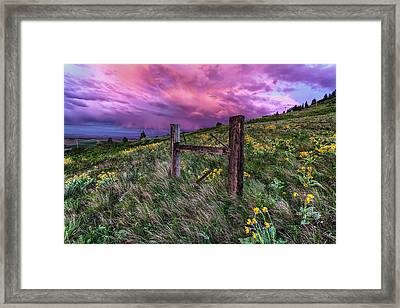 A World Of Never Ending Happiness Framed Print by Mark Kiver