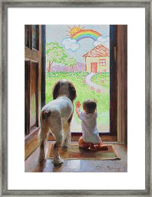A World Of Possibilities Framed Print by Anna Rose Bain