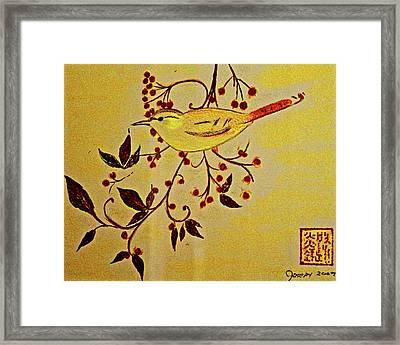 A Wren - In Pastel  Framed Print