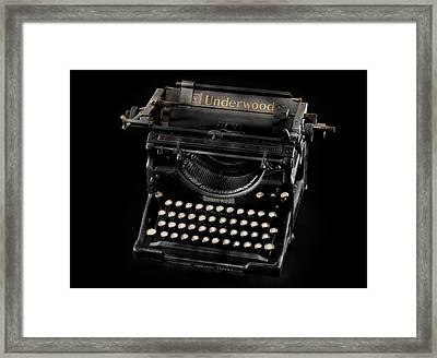 A Writing Classic Framed Print by Donald Schwartz