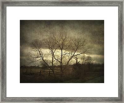 A Wyeth Landscape Framed Print by Cynthia Lassiter