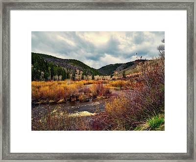 A Wyoming Autumn Day Framed Print by L O C