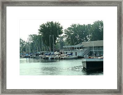 A Yacht Club Framed Print by Ian  MacDonald