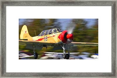 A Yak-52 At Reklaw Framed Print