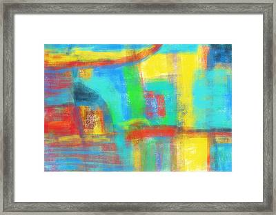 Framed Print featuring the painting A Yellow Day by Susan Stone