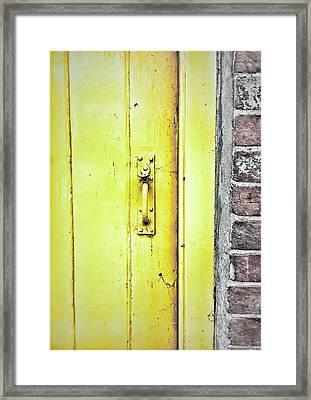 A Yellow Door Framed Print