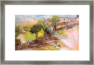 Framed Print featuring the painting a young artist dreams of Italy by Debbi Saccomanno Chan