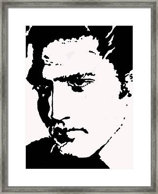 A Young Elvis Framed Print by Robert Margetts