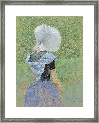 A Young Girl From Zeeland Framed Print