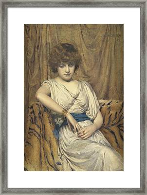 A Young Greek Framed Print by Robert Edward Morrison