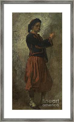 A Zouave Framed Print by Thomas Couture