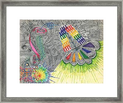 A0_energy Maze Framed Print