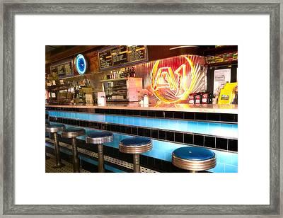 A1 Diner In Gardiner, Maine Framed Print