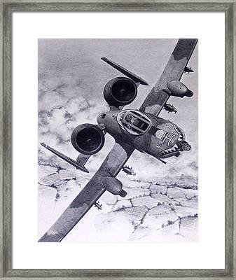 A10 Rolling Out Framed Print by Mark Jennings