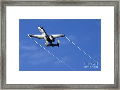 A10 Thunderbolt Framed Print by Angel  Tarantella