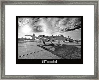 A10 Thunderbolt Framed Print by Greg Fortier