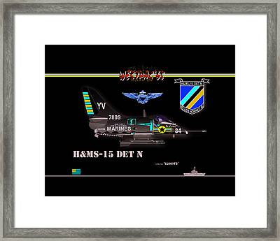 A4-c Skyhawk Vsf Framed Print by Mike Ray