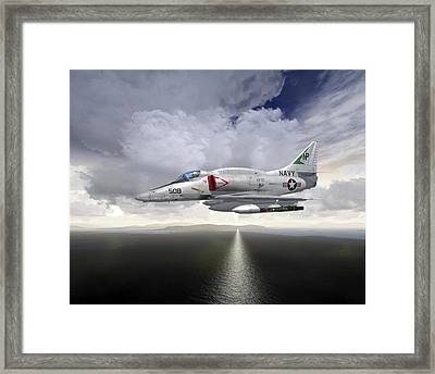 A4 Feet Wet Framed Print